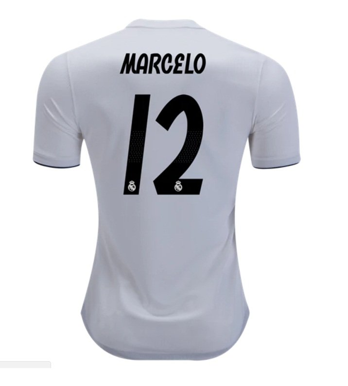 224a452ec Marcelo  12 Real Madrid White 2018-2019 Home Jersey New Free Shipping