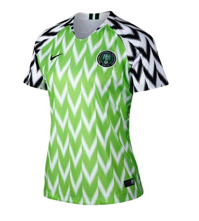 f19d3a8bef0 Women's Nigeria Team 2018-2019 Away Stadium Blank Jersey â   Green