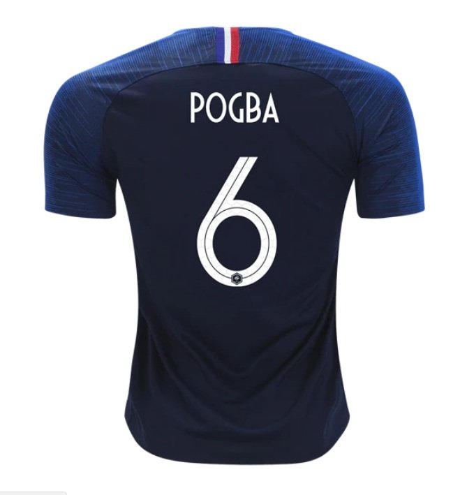 82085f91a Paul Pogba #6 France Team 2018-2019 Home Stadium Blank Jersey –blue