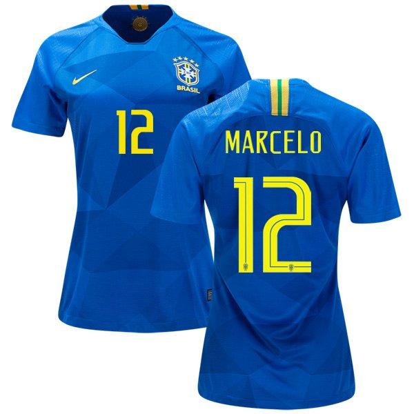 2fc2705ef MARCELO  12 BRAZIL 2018-2019 Away Football Shirt -Blue Best Quality