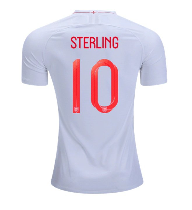 8ea9d802f86 Raheem Sterling  10 ENGLAND 2018-2019 Home Football Shirt -Red Best Quality