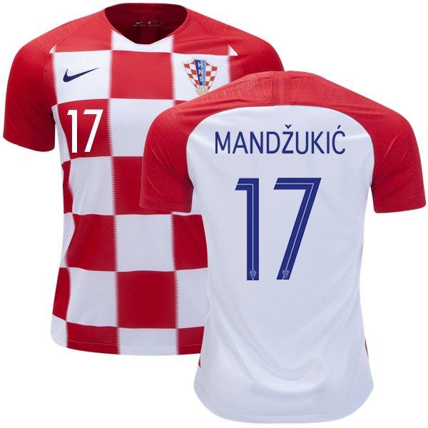 61b17d84b7f Mandzukic  17 Croatia Home Jersey SOCCER 2018-2019 -final  worldcup