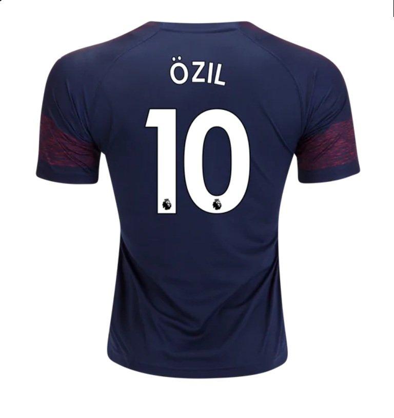 81b65cc17f7 Mesut Ozil  10 Arsenal 2018-2019 Away Jersey New Free Shipping