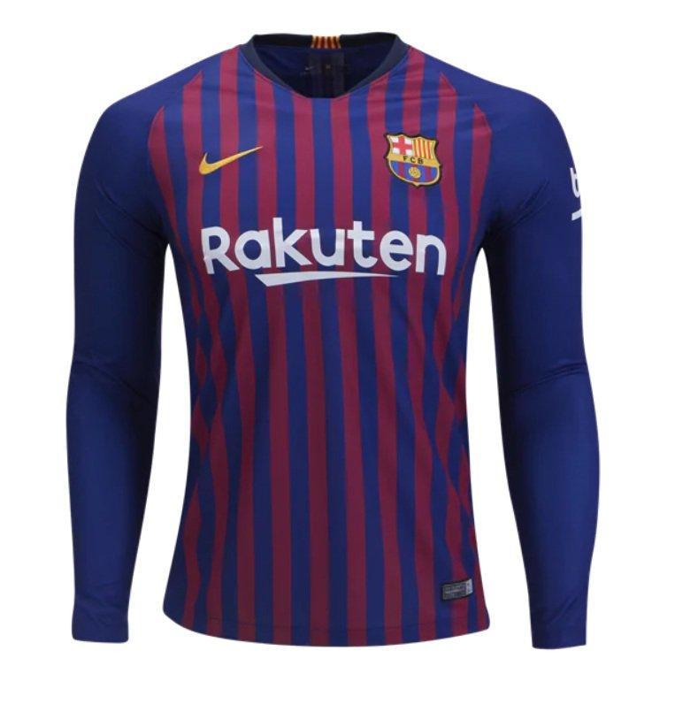 best cheap 21f27 2d977 fc barcelona long sleeve jersey 2018