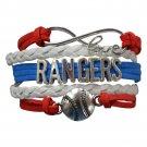 Texas Rangers Bracelet, Texas Rangers Jewelry and Perfect Baseball Bracelet