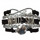 Chicago White Sox Bracelet, Chicago White Sox Jewelry and Perfect Baseball Brace