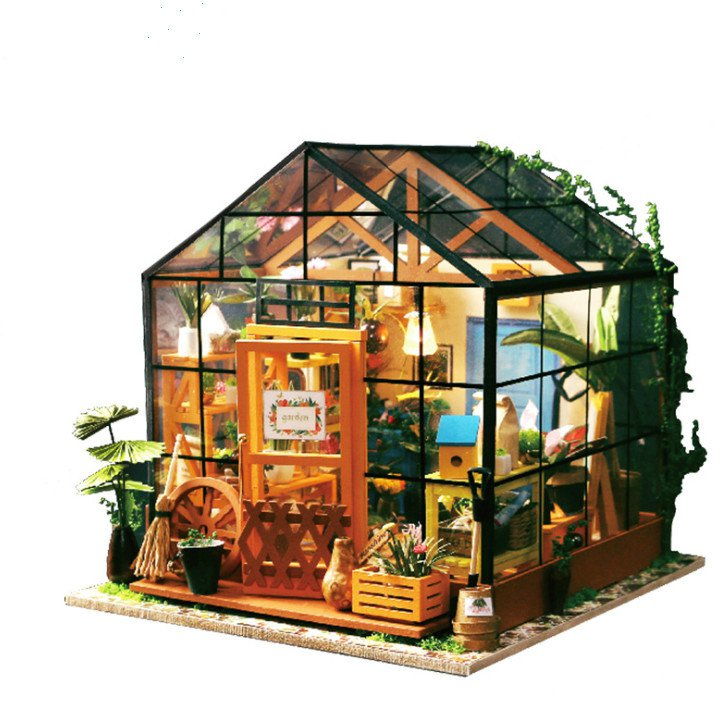 DIY house Kacey's Flower Shop educational 3D puzzle toys for children and adults