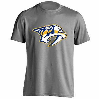 Nashville Predators T Shirt Men's Sizes XS-3XL New Gray Short Sleeve NHL Hockey Stanley Cup