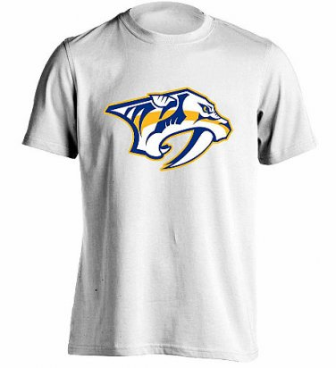 Nashville Predators T Shirt Men's Sizes XS-3XL New White Short Sleeve NHL Hockey Stanley Cup