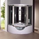 Corner Steam Shower Room Enclosure with Whirlpool Tub 9042