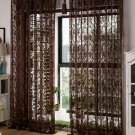 Top Quality CURTAIN DRAPES Semi Sheer Brown Jacquard