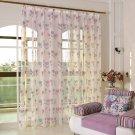 Floral Curtain Window Curtain Net Curtains 1PCS