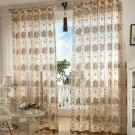 New Window Curtain Floral Jacquard Home Decoration