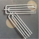Stainless Iron Window Curtain 4 feet Anti-rust Curtain Hooks 20pc White Color Curtain Accessories