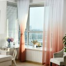 Tulle Curtains Printed Kitchen Decorations Living Room Divider Sheer Voile curtain Panel