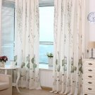 Lotus Printed Semi-shade Curtains For Living Room Classical Floral Screens Tulle Sheer Curtain
