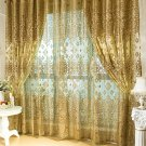 European Golden Luxury Curtains for Bedroom Window Curtains for Living Room Elegant Home Decoration