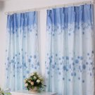 Rustic Window decor Modern Curtain and Drapes for Kitchen Bedroom Kids Blue Print Floral Curtains