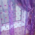 modern tulle sheer window curtains for living room embroidery window screen curtains for bedroom