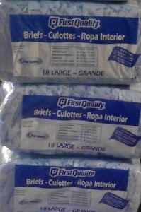 First Quality, Sister company of Prevail, Adult Diapers - Size Large -Case of 54