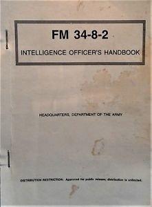 Army Intelligence Officers Handbook  FM 34-8-2