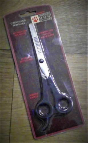 American Dog Outfitters,Grooming Scissors,Thinning Cutting shears in one
