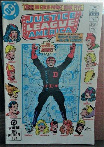 Justice League of America Comic Book #209, DC Comics, Vol 23 Dec 1982 NEAR MINT