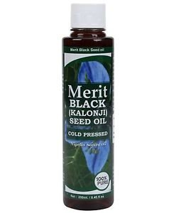 Merit Black Seed Oil - 250 ml 100% pure cold pressed oil Rich source of EFA's