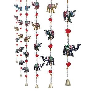 Rajasthani Haat Elephant Door Hanging Home Decor- Set of 2-Length 96 cm