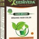 DARK BROWN HAIR COLOR  POWDER-NO CHEMICAL PURE HERBAL BY KESHVEDA FREE SHIP