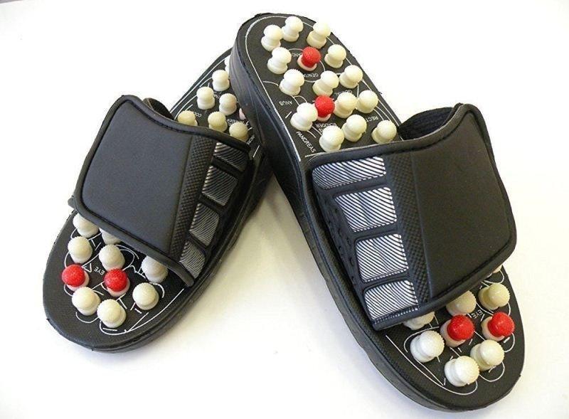 Acupressure Power Foot Mat Full Body Relaxer Natural Leg Foot Massager Slippers