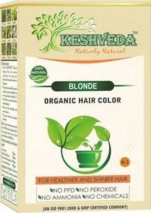 BLONDE HAIR COLOR  POWDER-NO CHEMICAL PURE HERBAL BY KESHVEDA FREE SHIP