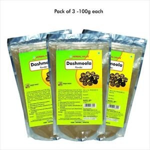 Herbal Hills Dashamool Powder (Ten Roots-100 g(Pack of 3)100 % Pure and Organic