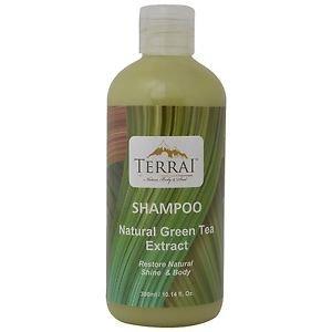 Terrai Aloe Vera & Natural Green Tea Shampoo Green 300 ml Free Shipping