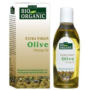 Indus Valley Bio Organic Extra Cold Virgin Olive Massage Oil 100ml