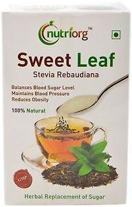Nutriorg Stevia Leafs-100 %Natural Flavour) Stevia Reabiaudana Balance Sugar Lev