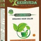 GOLDEN BROWN HAIR COLOR  POWDER-NO CHEMICAL PURE HERBAL BY KESHVEDA FREE SHIP