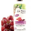 La Flora Organics Pure Grapeseed Oil Skin & Hair Care - 100 ml Cold Pressed