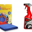 Combo of 3M Car Tyre Dresser(500 ML) + Abro Microfiber Cloth - Assorted