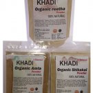 Khadi- Soapnuts, Acacia Concinna, Indian Gooseberry Hair Care Combo 100 GMS X 3