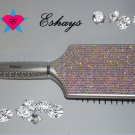 CRYSTAL RHINESTONE PADDLE HAIR BRUSH