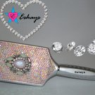 JEWEL GEM AB RHINESTONE PADDLE HAIR BRUSH