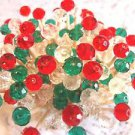 Crystal Red Green Toothpicks Italian Dinner Party Picks Wedding Gift Christmas