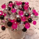 35 Crystal Hot Pink Black Silver Toothpicks Wedding Bachelorette Party Picks Mix