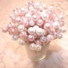 PINK WHITE Pearl Wedding Toothpicks Baby Girl Shower Party Picks Quinceanera
