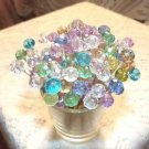 70 Christmas Pastel Crystal Toothpicks Wedding Dinner Food Pick Party Pink Aqua