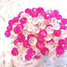Pink Fuchsia Crystal Toothpicks Mothers Day Wedding Christmas Dinner Party Picks