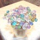 Pastel Crystal Toothpicks Wedding Dinner Food Picks Party Pink Aqua Dessert Mix