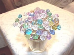 Pastel Crystal Toothpicks Wedding Dinner Food Picks Party Pink Aqua Dessert Mix