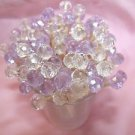 Wedding Toothpicks 40 Lavender Crystal Glass Dinner Party Picks Lilac Cake